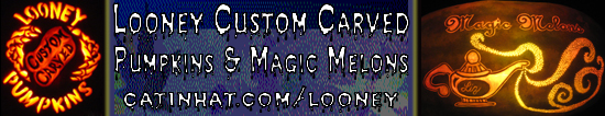 Looney Custom Carved Pumpkins & Magic Melons